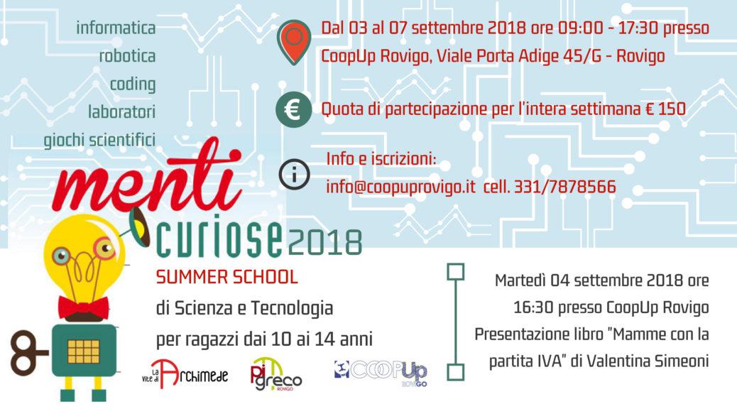 Menti Curiose 2018 - Summer School di Scienza e Tecnologia